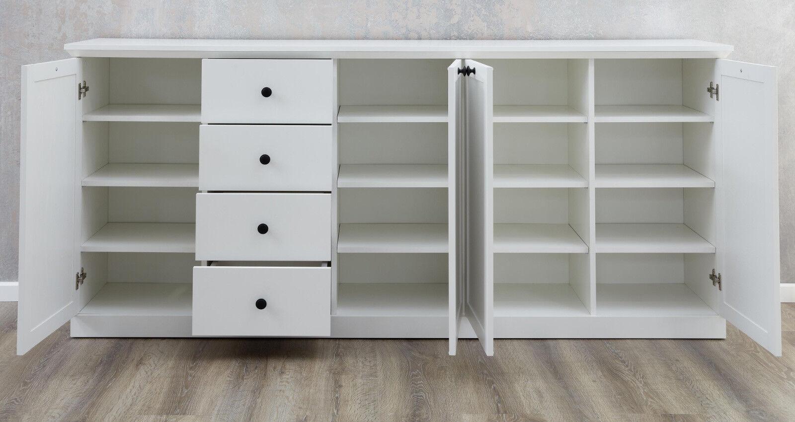 Sideboard Anrichte Weiß Landhaus Kommode 195 Cm Wohn  Und Esszimmer Möbel  Baxter 6 6 Von 6 Siehe Mehr