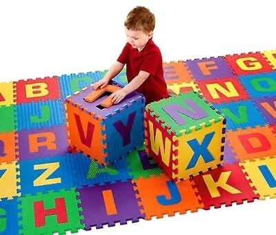 40pc Soft Foam Floor Tiles Interlocking Kids Alphabet & Number Puzzle Play Mat 2