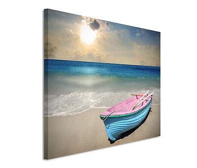 Leinwandbild 120x80cm auf Keilrahmen Meer,Sand,Strand,Ufer,Himmel,Sonne
