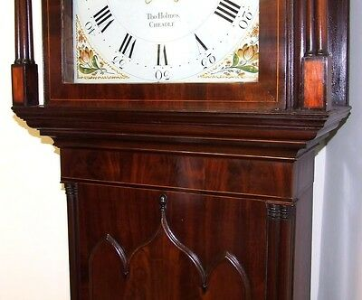 Antique Mahogany Rolling Moon Longcase Grandfather Clock THOMAS HOLMES CHEADLE 9