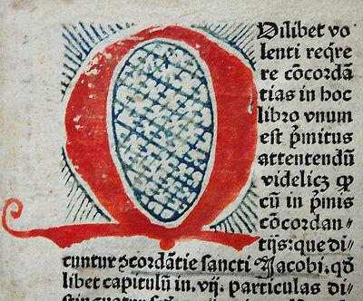 Inkunabel Bibel Konkordanz Conradus De Halberstadt Peter Drach Speyer 1485