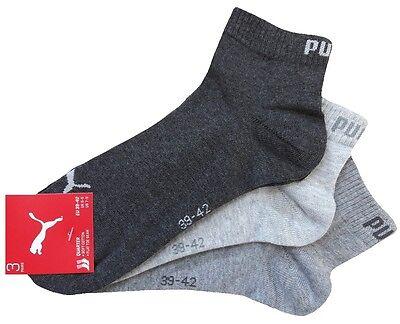 3 Paar PUMA Invisible Quarter - Sneaker Socken Kurzschaftform 1/4 Schaft 4