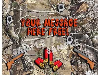 1 Of 3 Camouflage Hunting Happy BIrthday Cake Topper Edible Sugar Kid Gun Paper Sheet