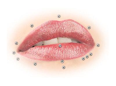 Bioflex Labret Teflon PTFE Madonna Lippenpiercing Micro UV Perl Schmuckkugel