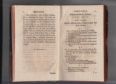 1792 Jagd- und Forst Recht nach Chur Sächsischen Gesetzen CODEX AUGUSTAEUS 4