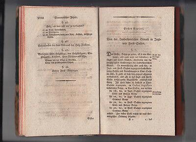 1792 Jagd- und Forst Recht nach Chur Sächsischen Gesetzen CODEX AUGUSTAEUS 10