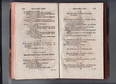 1792 Jagd- und Forst Recht nach Chur Sächsischen Gesetzen CODEX AUGUSTAEUS 8