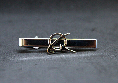 Tiebar Tie ClaspTie Clip Bar Boeing Company SILVER with logo for Pilots Crew