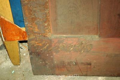 """Antique Vintage Solid Wood 4 Panel House Door 83-5/8x30"""""""