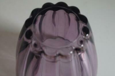 A Lovely Pale Purple Fluted Vase. 6