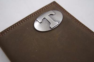 ZEP-PRO NCAA Texas Longhorns Roper CRAZY HORSE Leather Wallet BURLAP GIFT BAG
