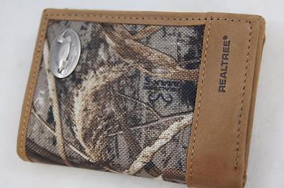 ZEP-PRO Arkansas Razorback REALTREE MAX-5 Camo  Trifold Wallet Tin Gift Box