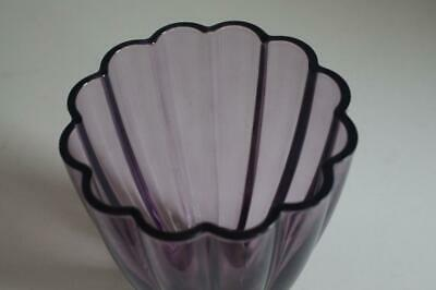 A Lovely Pale Purple Fluted Vase. 4