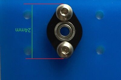 4PCs KFL04 4mm inner ID bore Mounted Housing with MF84ZZ LF840ZZ Flanged Bearing 3