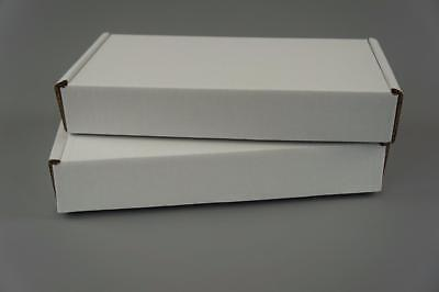 100 White Postal Cardboard Boxes Mailing Shipping Cartons Small Size Parcel OP10 2