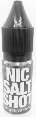 Nic Salt Shot 18MG 10ML 80VG/20PG BY Mister Vape Unflavoured Nicotine Salt Shots 5