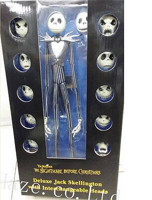 3 of 7 jack skellington the nightmare before christmas action figure 12 skull heads toy - Nightmare Before Christmas Action Figures