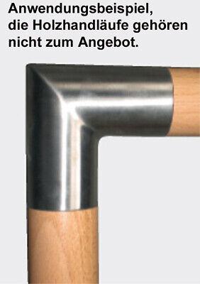 Edelstahl Ecke Winkel Verbinder für Holz Handlauf Ø 45,0 mm V4A geschliffen