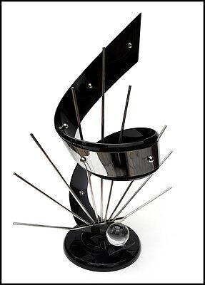 Shlomi Haziza Original Firmado a Mano Acrílico Metal Abstractas Escultura Arte 2