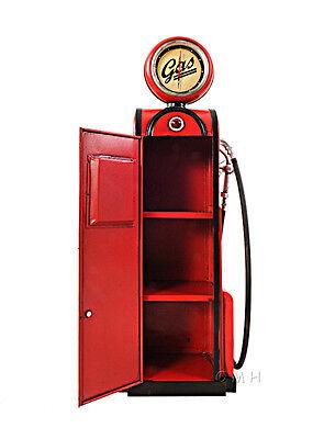 """Gas Pump Vintage Antique Reproduction Metal Model 21/"""" w// Clock Automotive Decor"""