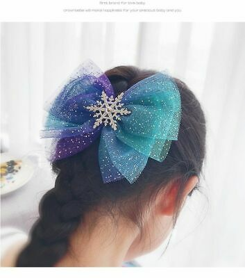 Zest Christmas Snowflake Tinsel Hair Accessories 2 Hair Clips /& 2 Ponios Pink