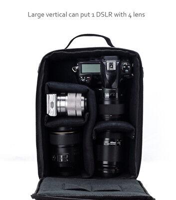 Camera Bag Padded Insert Carry Case Partition For DSLR SLR Canon Nikon Sony Lens 9