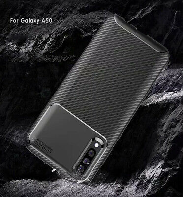 For Samsung Galaxy A30 A50 Matte Frosted Protective TPU Back Cover Carbon Case 8