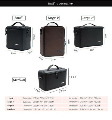 Camera Bag Padded Insert Carry Case Partition For DSLR SLR Canon Nikon Sony Lens 3