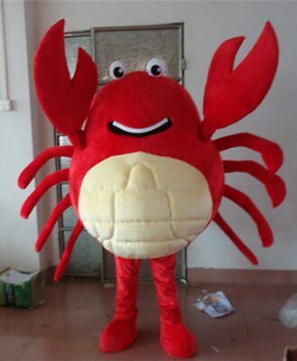 Adult Crab Sea Life Animal New Fancy Dress Costume Stag Night Crustacean Mascot