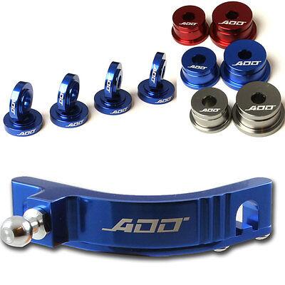 ADD W1 Short Shifter + Base Bushings + Cable Bushings for Honda SI EP3 BLUE 2