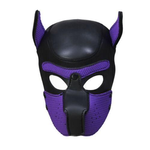 Sexy Cosplay Role Puppy Dog Mask Play Women Men Matching Roleplay Head Props 9