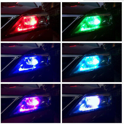 2pcs T10 W5W 5050 RGB Remote Control Car LED Light 6SMD Colorful Side Light Bulb 10