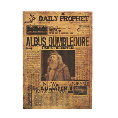NEW Harry Potter Poster Kraft Paper Bar Wall Daily Prophet Decorative Paintings 7