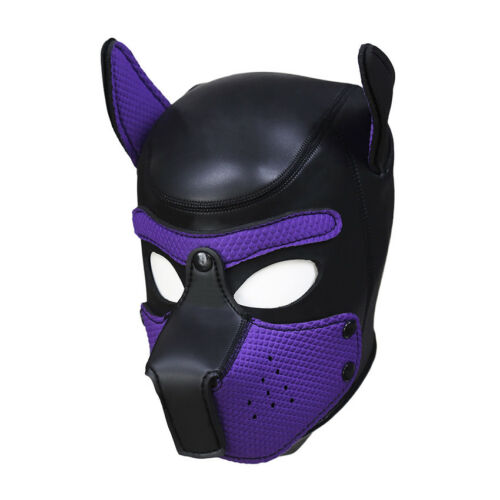 Sexy Cosplay Role Puppy Dog Mask Play Women Men Matching Roleplay Head Props 5