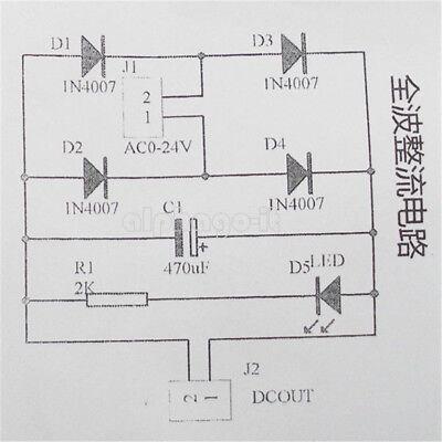 3-18V IN4007 Bridge Rectifier AC DC Converter Full Wave Rectifier Circuit Board 3
