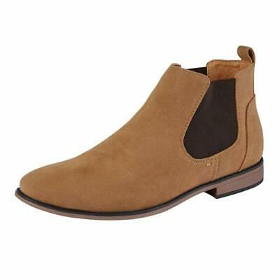 Mens Desert Boots Suede Casual Chelsea Walking Dealer Ankle Smart Fashion Shoes 5