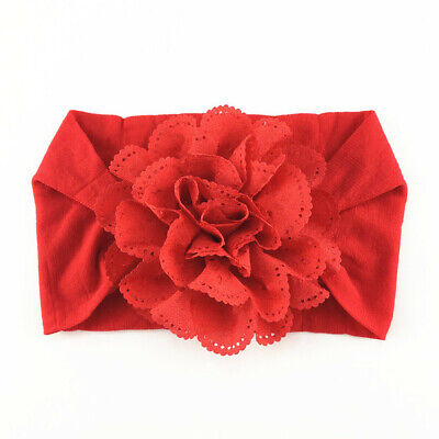 Newborn Baby Girls Lace Flower Headband SoftBow Hairband Baby Headdress Headwear 4