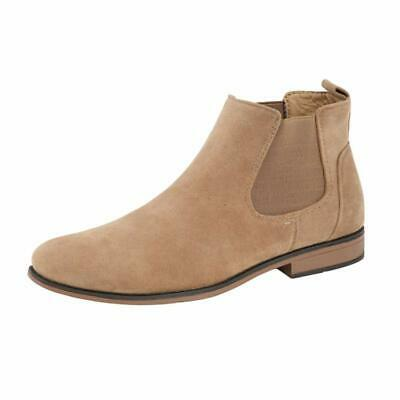 Mens Desert Boots Suede Casual Chelsea Walking Dealer Ankle Smart Fashion Shoes 7