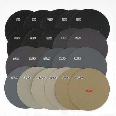 5'' 125mm Hook and Loop Sanding Disc 60 - 10000 Grit Wet or Dry Sandpaper Pads 3