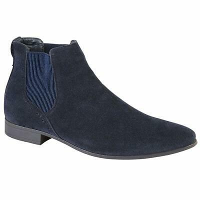 Mens Desert Boots Suede Casual Chelsea Walking Dealer Ankle Smart Fashion Shoes 12