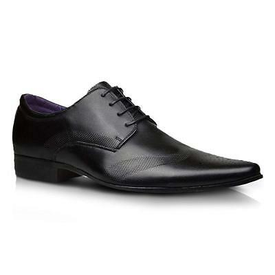 Mens Faux Leather Shoes New Italian Smart Formal Wedding Office Party Shoes Size 2