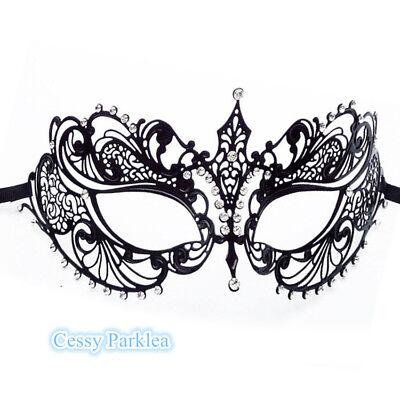 Rhinestones Venetian Carnival Butterfly Masquerade Metal Hollow Carving Mask