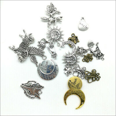 Wholesale Antique Silver Charms Pendants Jewelry Findings Carfts DIY 100+ kinds 5