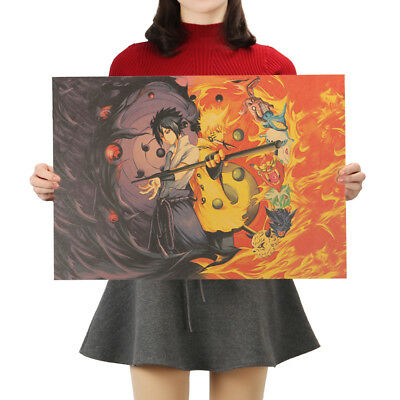 Classic Naruto Anime Art Kraft Paper Cafe Retro Poster Decorative Painting 4