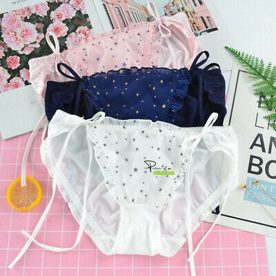 XL Girls Ladies Lolita Milk Fiber Briefs Knickers Panties Underwear Tied Bow R39 2