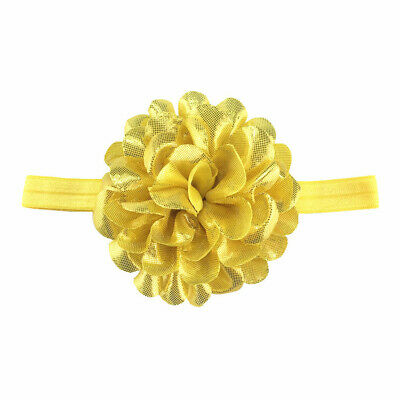 Baby Girls Glitter Flower Bow Headband Ribbon Elastic Hairband Newborn Headdress 8