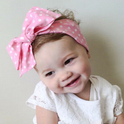 Baby Girls Floral Headwrap Top Knot Big Bow Turban Tie Headband Hair Accessories 5