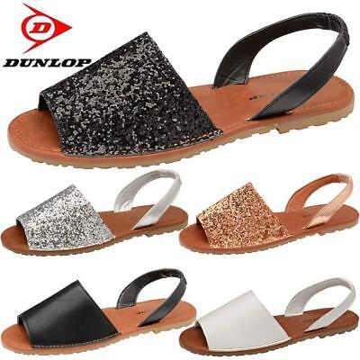 9f9a9e664 ... New Womens Ladies Glitter Slingback Flat Menorcan Open Toe Spanish  Sandals Shoes 12