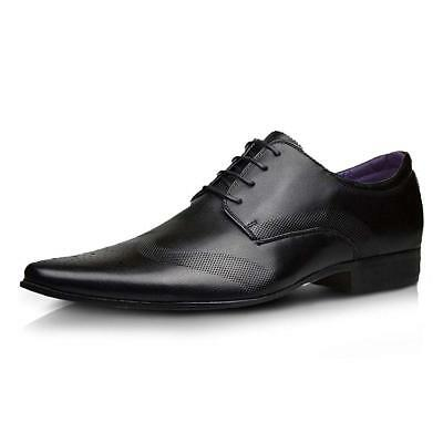 Mens Faux Leather Shoes New Italian Smart Formal Wedding Office Party Shoes Size 3