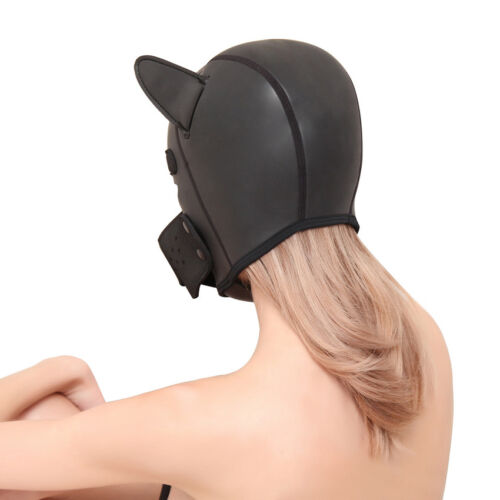 Sexy Cosplay Role Puppy Dog Mask Play Women Men Matching Roleplay Head Props 8